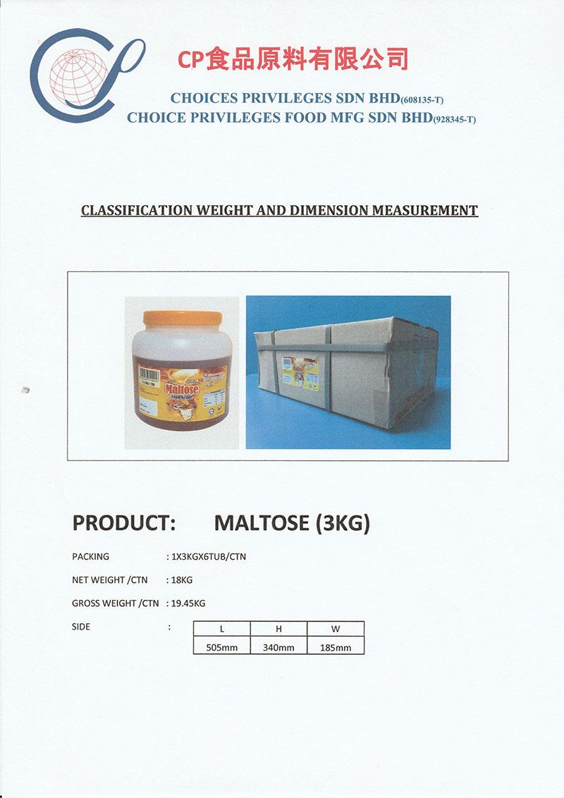 MALTOSE - 3KG